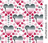 Seamless Pattern Of Hearts For...
