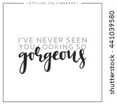 calligraphy inscription phrase  ... | Shutterstock .eps vector #441039580