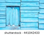 blue planks wall background | Shutterstock . vector #441042433