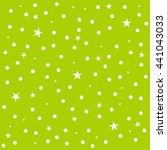 Star Polka Dot Green Backgroun...