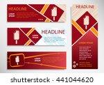 ice cream on vector website... | Shutterstock .eps vector #441044620