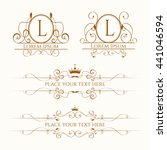 classic design elements for... | Shutterstock .eps vector #441046594