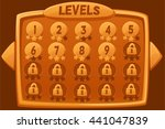 level selection. vector...