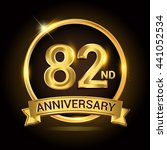 82nd golden anniversary logo ... | Shutterstock .eps vector #441052534