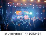 crowd in front of concert stage ... | Shutterstock . vector #441053494