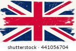 Great Britain Flag With Grunge...