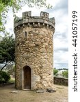 medieval tower or castle in...