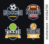 sport badges set | Shutterstock .eps vector #441063700
