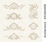 monograms collection for cards  ... | Shutterstock .eps vector #441064408