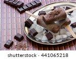 Right Chocolate Ice Cream On A...