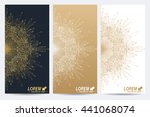 modern set of vector flyers.... | Shutterstock .eps vector #441068074