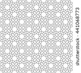 seamless vector ornament.... | Shutterstock .eps vector #441068773