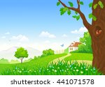 vector cartoon illustration of... | Shutterstock .eps vector #441071578