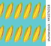 corn seamless pattern   vector... | Shutterstock .eps vector #441076318