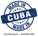 Постер, плакат: made in Cuba blue