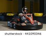 young man is driving go kart... | Shutterstock . vector #441090346