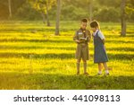 boy scout and girl scout... | Shutterstock . vector #441098113