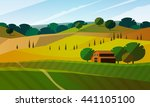 colorfull cartoon flat... | Shutterstock .eps vector #441105100