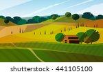 colorfull cartoon flat...   Shutterstock .eps vector #441105100