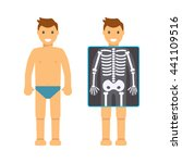 the man before and after x ray. ... | Shutterstock .eps vector #441109516