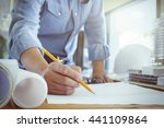 architect or engineer working... | Shutterstock . vector #441109864