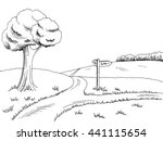 crossroad pathway graphic art...   Shutterstock .eps vector #441115654