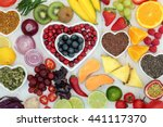 paleo diet health and superfood ... | Shutterstock . vector #441117370