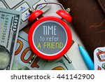time to refer a friend. sign on ... | Shutterstock . vector #441142900