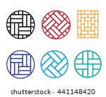 set of circle chinese pattern...   Shutterstock .eps vector #441148420