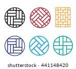 set of circle chinese pattern...