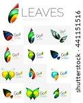 futuristic design eco leaf... | Shutterstock .eps vector #441151516