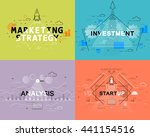 marketing strategy  investment  ... | Shutterstock .eps vector #441154516