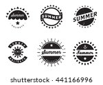 set of summer retro vintage... | Shutterstock .eps vector #441166996