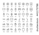 products for cars simple icons... | Shutterstock .eps vector #441173788