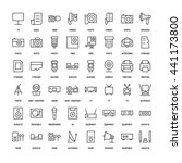 electronics simple icons set.... | Shutterstock .eps vector #441173800
