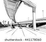 the industrial road sketch... | Shutterstock .eps vector #441178060