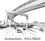 the industrial road sketch... | Shutterstock .eps vector #441178063