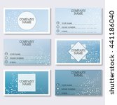 set template of modern business ... | Shutterstock .eps vector #441186040