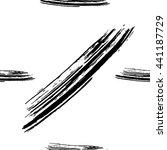 hand drawn brush ink grunge... | Shutterstock .eps vector #441187729