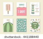 cute doodle birthday  party ... | Shutterstock .eps vector #441188440