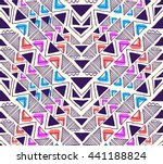 triangle geo pattern design  ... | Shutterstock .eps vector #441188824