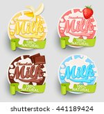 chocolate  banana  strawberry... | Shutterstock .eps vector #441189424