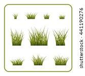 green grass bushes set. nature... | Shutterstock .eps vector #441190276