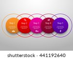 circle timeline template for... | Shutterstock .eps vector #441192640