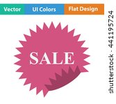 sale tag icon. flat design....