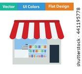 tent shop icon. flat design....