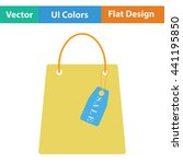 shopping bag with sale tag icon....