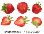 isolated strawberries.... | Shutterstock . vector #441199600
