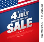 fourth of july. independence... | Shutterstock .eps vector #441200233