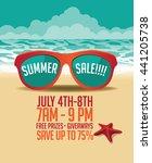summer sale marketing template...   Shutterstock .eps vector #441205738